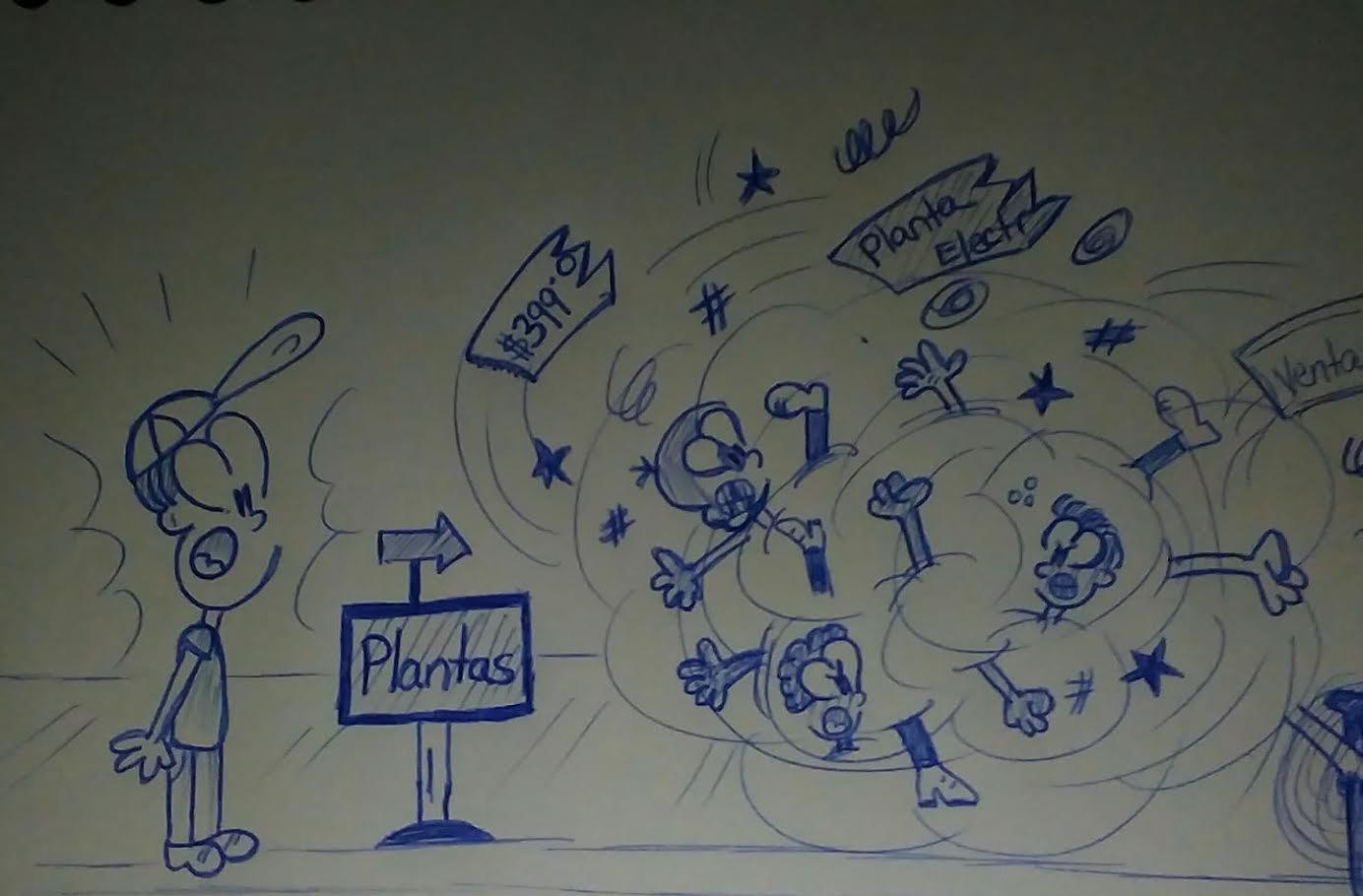 ilustración mostrando caricaturas peleando y uno de ellos sorprendido