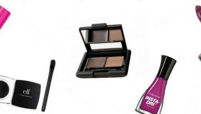gráfica con 4 productos de maquillaje bien economico