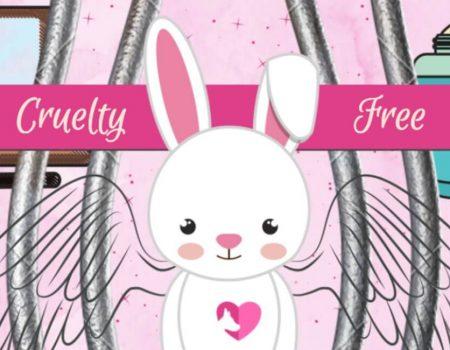 arte grafico mostrando un conejito con alas para un articulo sobre marcas de maquillaje que no hacen pruebas en animales