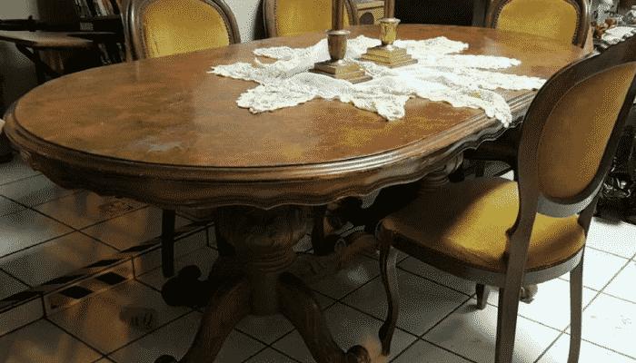 juego de comedor vintage con cinco sillas