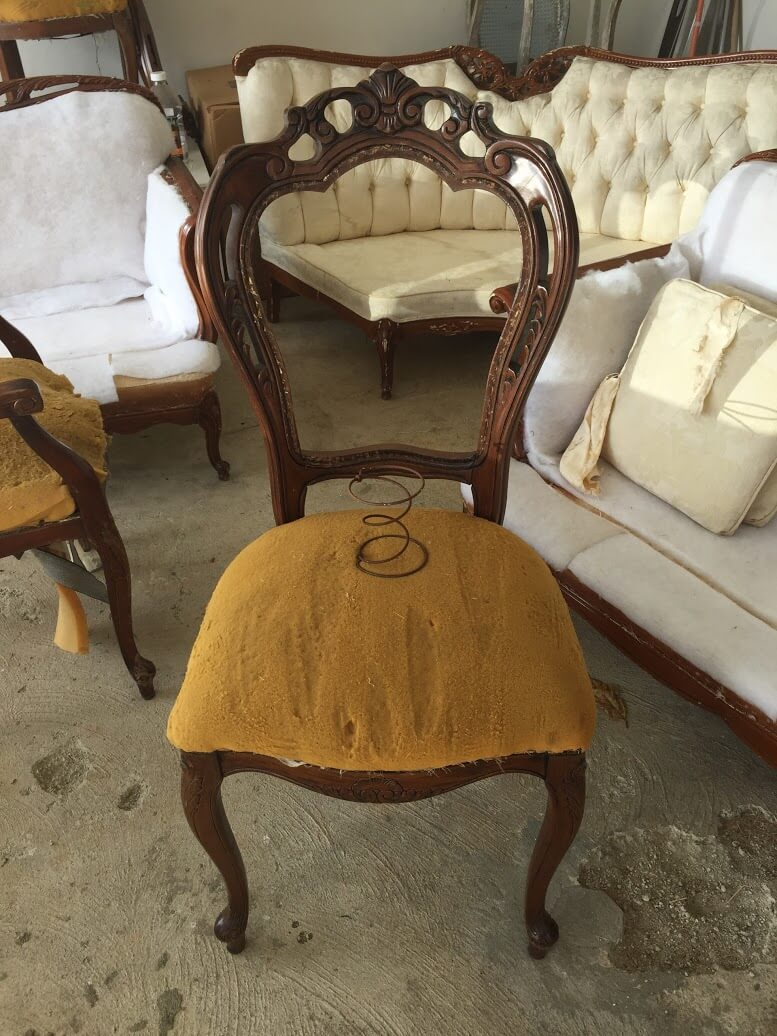 vintage wood chair without fabric