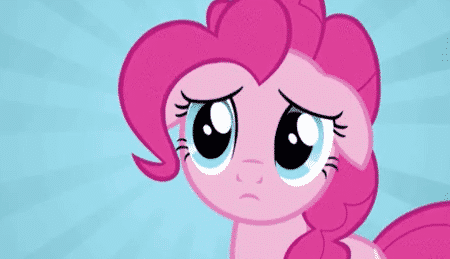 pink my little pony image with a blue background